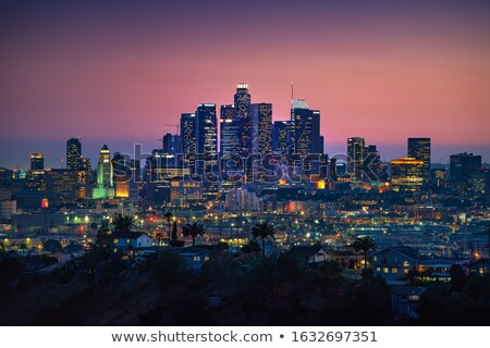 Los Angeles Skyline with Color Buildings and Blue Sky. Stock photo © ShustrikS