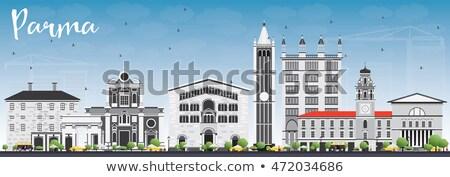Parma Skyline with Gray Buildings and Blue Sky. Stock photo © ShustrikS