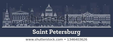 Saint Skyline bleu voyage d'affaires tourisme Photo stock © ShustrikS