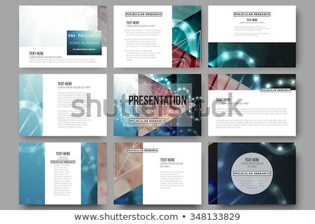 науки брошюра дизайн шаблона вектора молекулярный структуры Сток-фото © designleo