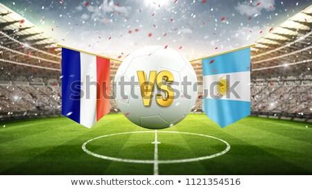 France vs Argentina football match Stock photo © olira