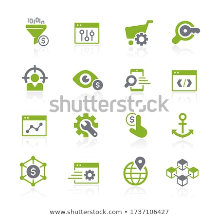 SEO and Digital Martketing Icons 1 of 2 // Natura Series Stock photo © Palsur