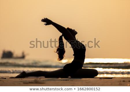 йога расслабляющая создают красоту Сток-фото © fxegs