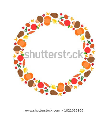 Cute autumn frame. EPS 8 Stock photo © beholdereye