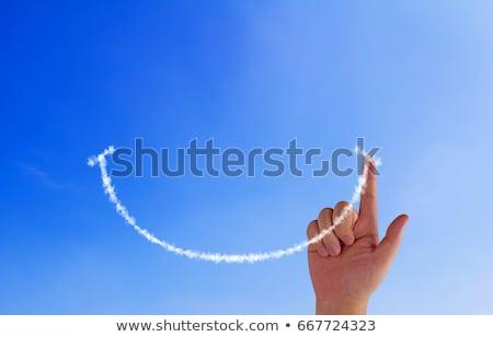 Sorrir mão feliz imagem desenhar cara Foto stock © Ohmega1982