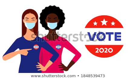 Stock photo: vote with 2 circles
