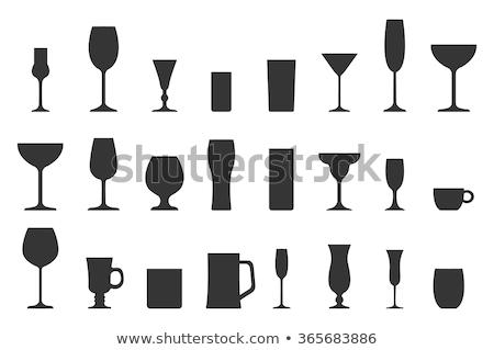 Foto stock: Coquetel · vidro · coleção · copo · isolado · branco