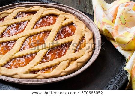 Apricot marmalade tart Stock photo © aladin66