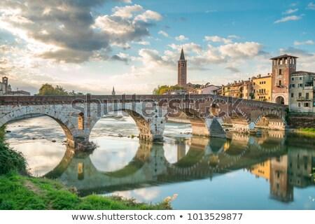 cityscape of verona old town veneto   italy stock photo © fazon1