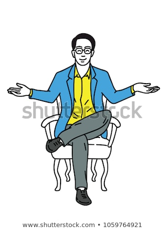 businessman sitting cross-legged and stretching Stock photo © photography33