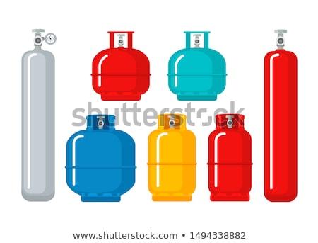 Benzin tank gyúlékony anyag viharvert figyelmeztető jel Stock fotó © sirylok