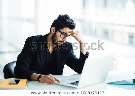 decepcionado · empresario · masculina · maletín · tristeza · deprimido - foto stock © photography33