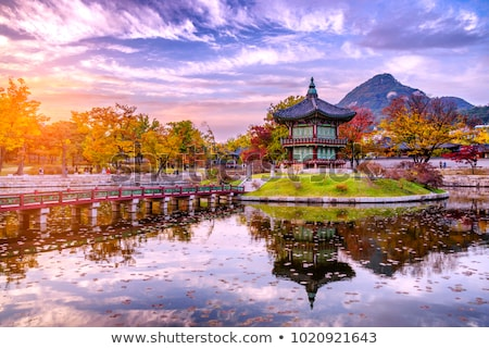 traditional architecture in seoul south korea palace Stock photo © travelphotography