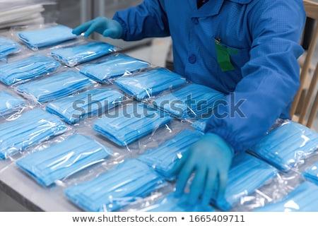 Gyártás nézőpont kilátás öv acél dobozok Stock fotó © JohanH