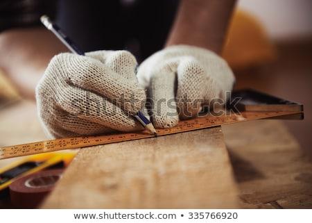 pontos · mérés · férfi · mér · öreg · fogaskerék - stock fotó © photography33