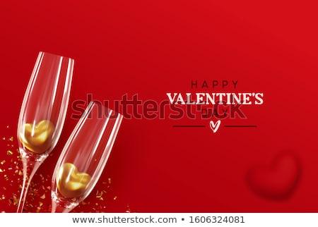 arany · szívek · dekoratív · valentin · nap · absztrakt · háttér - stock fotó © carodi