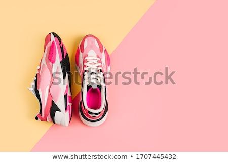 розовый кроссовки иллюстрация сердце аннотация Сток-фото © czaroot