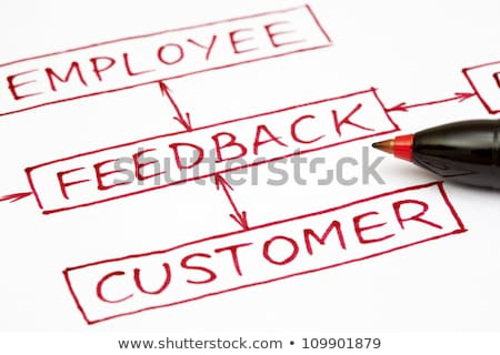 Feedback flow chart with red pen Stock photo © ivelin