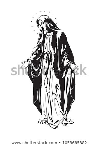 Maagd standbeeld katholiek afgod hemel Blauw Stockfoto © Beaust