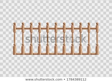Holz Säule Detail Textur Bau abstrakten Stock foto © taviphoto