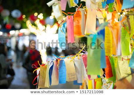 wishes on a tree in tokyo japan Stock photo © travelphotography