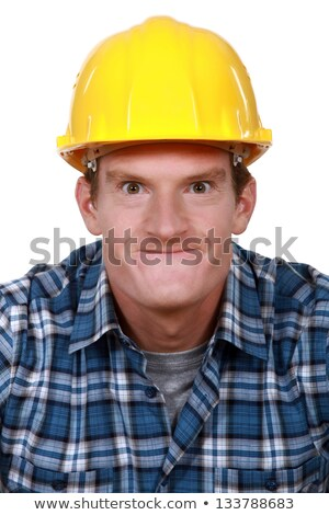 Tradesman making a silly face Stock photo © photography33