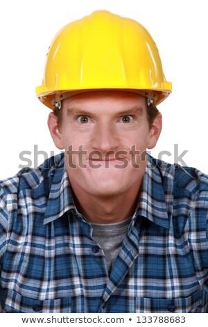 Stupido faccia uomo occhi Foto d'archivio © photography33