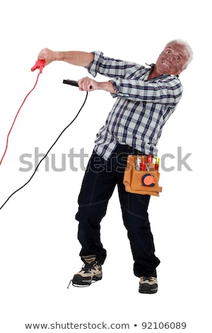 eletricista · elétrico · choque · trabalhador · energia · poder - foto stock © photography33
