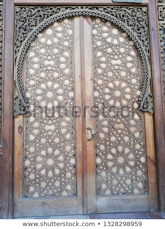 mosque door in cairo egypt stock photo © travelphotography