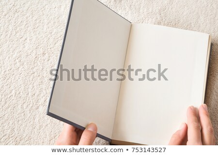 Student reading sentences from book to remember Stock photo © vetdoctor