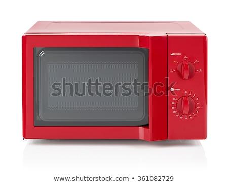 Modern Microwave Oven Isolated ストックフォト © goir