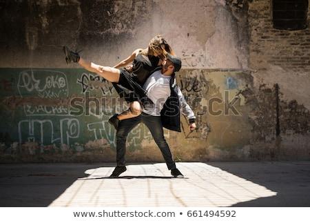 dwa · młodych · ulicy · tancerzy · zdjęcie - zdjęcia stock © feedough