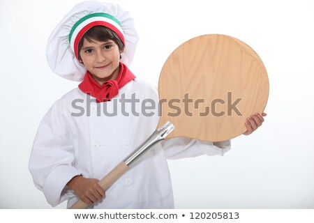 Child with oven shovel Stock photo © photography33