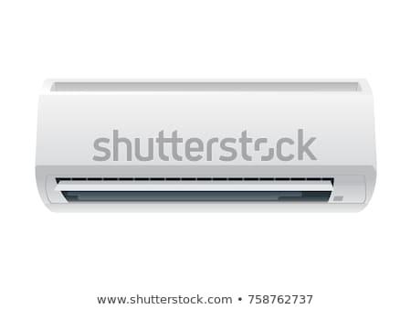 Blanche climatiseur isolé mur lumière technologie Photo stock © ozaiachin