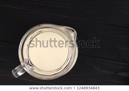 Süt cam sürahi yalıtılmış beyaz bar Stok fotoğraf © karandaev