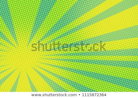 Retro Background With Green Circles Stock fotó © studiostoks