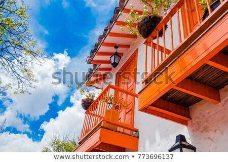 Görmek kasaba ağaç şehir sokak mavi Stok fotoğraf © jkraft5