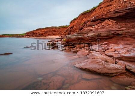 kumtaşı · soyut · sıcak · sarı · krem · Sidney - stok fotoğraf © gordo25