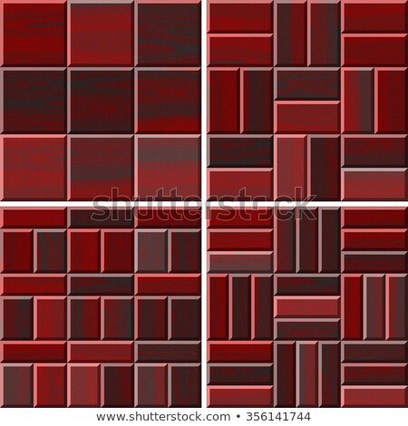 Rosso stanza set senza soluzione di continuità casa Foto d'archivio © H2O