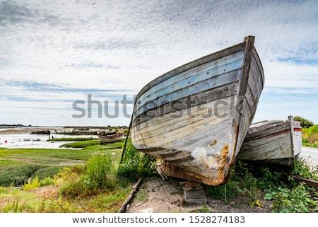 roncs · elhagyatott · halászhajók · halászat · arany · tengerpart - stock fotó © Rigucci