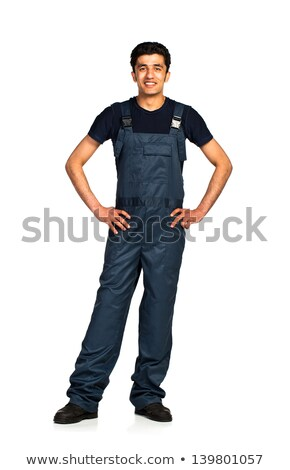 Repairman Arab nationality in the construction overalls on a whi Stock photo © vlad_star