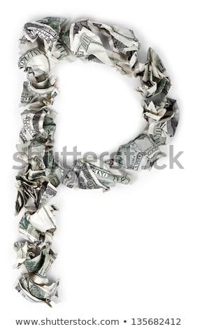 Közgazdaságtan 100 számlák szó ki izolált Stock fotó © eldadcarin