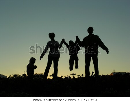 family of four sundown 2 Stock photo © Paha_L