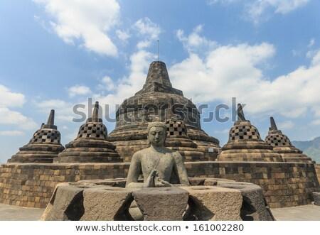 Antigo templo Indonésia java budista projeto Foto stock © pzaxe