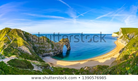 двери закат пляж природы морем красоту Сток-фото © ollietaylorphotograp