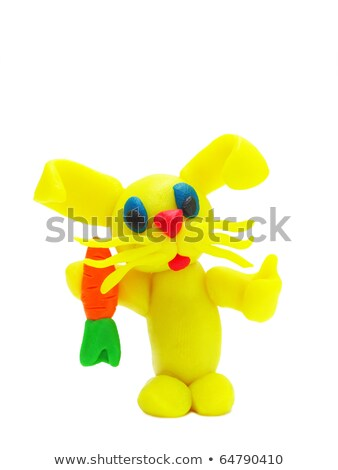 Handmade Modeling Clay Figure With Carrots Photo stock © oneo