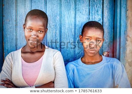 Csinos meztelen fekete tizenévesek