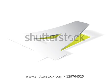 Paper folding with number 4 in perspective view Stock photo © archymeder