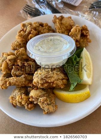 Friss osztriga kút fine dining étel egészség Stock fotó © smuki