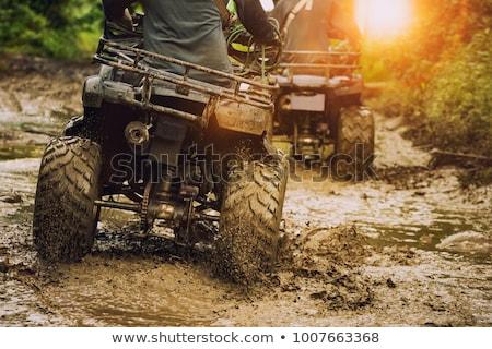 fiets · sport · grijs · lopen · snelheid · studio - stockfoto © Supertrooper